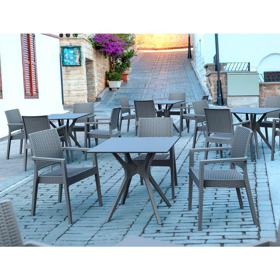 Tuinstoel - Ibiza - Donkergrijs - Wicker Look - Siesta-5