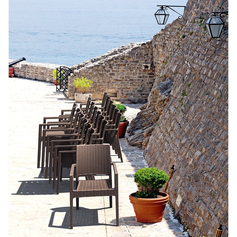 Tuinstoel - Ibiza - Bruin - Wicker Look - Siesta-9