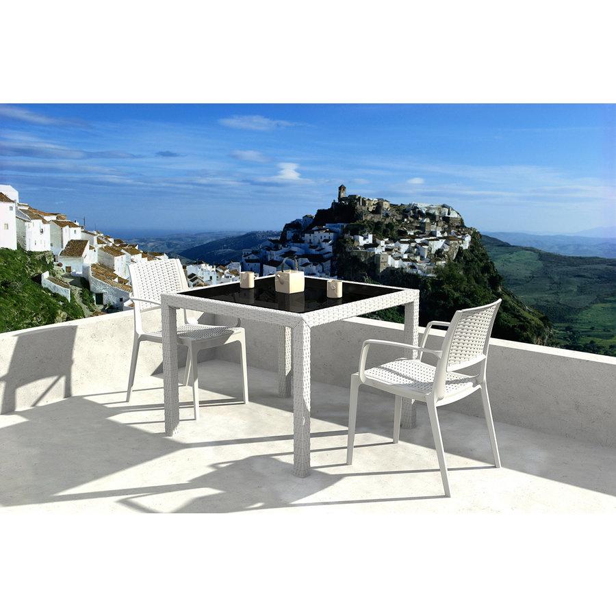 Tuinstoel - Capri - Wit - Wicker Look - Siesta-3