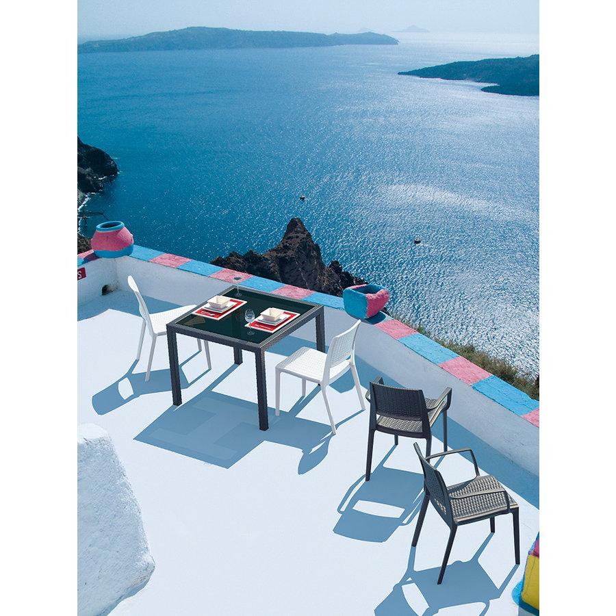 Tuinstoel - Capri - Wit - Wicker Look - Siesta-5