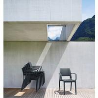 thumb-Tuinstoel - Capri - Donkergrijs - Wicker Look - Siesta-3