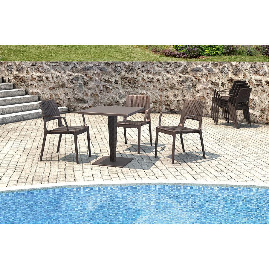 Tuinstoel - Capri - Bruin - Wicker Look - Siesta-6