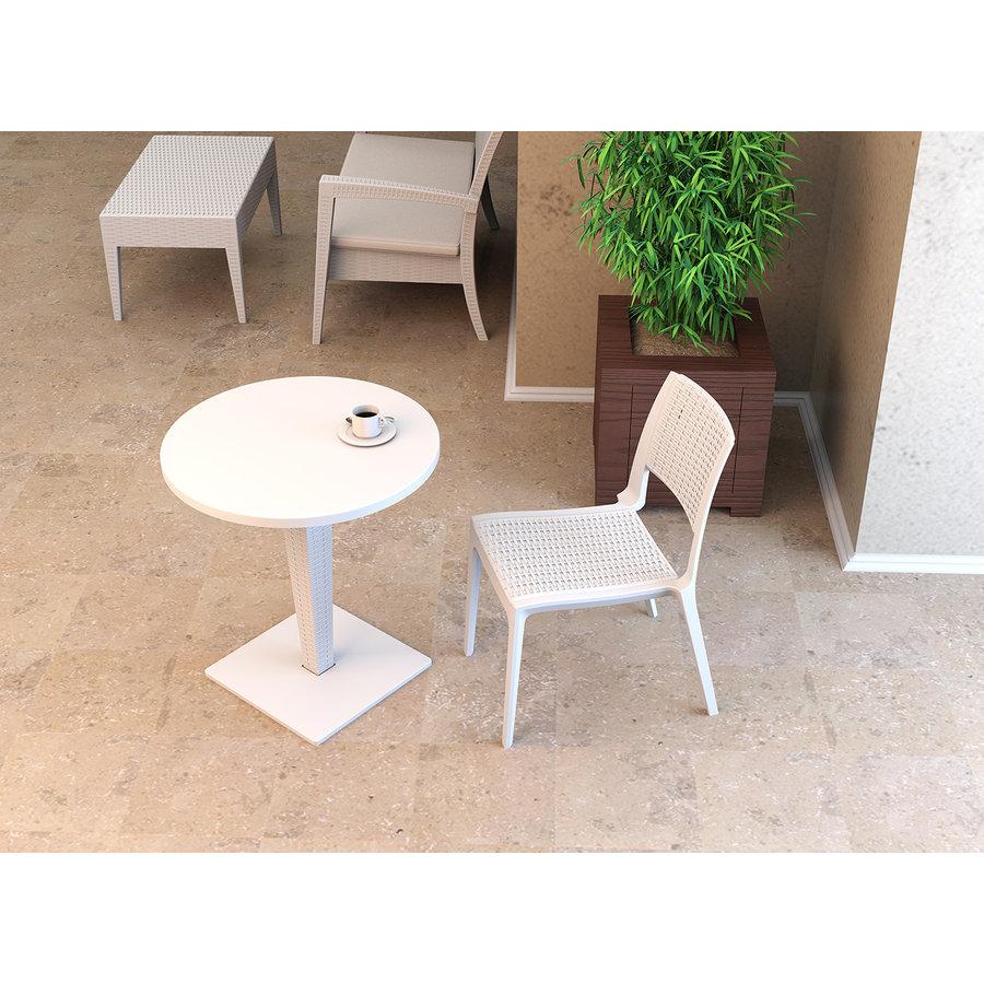 Tuinstoel - Verona - Wit - Wicker Look - Siesta-5