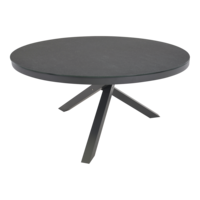 thumb-Ronde Tuintafel - Mojito Negro - Ø 150 cm -  Keramiek - Lesli Living-1