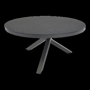 Lesli Living  Ronde Tuintafel - Mojito Negro - Ø 150 cm -  Keramiek - Lesli Living