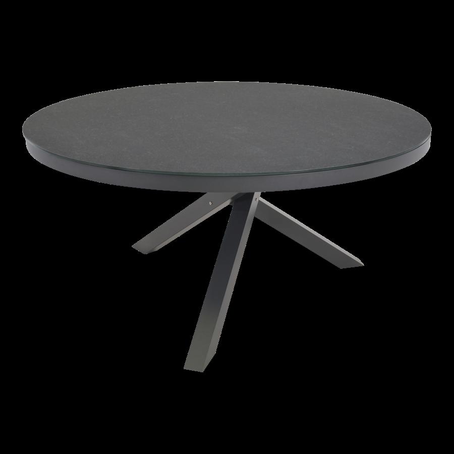 Ronde Tuintafel - Mojito Negro - Ø 150 cm -  Keramiek - Lesli Living-1