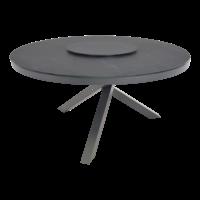 thumb-Ronde Tuintafel - Mojito Negro - Ø 150 cm -  Keramiek - Lesli Living-2
