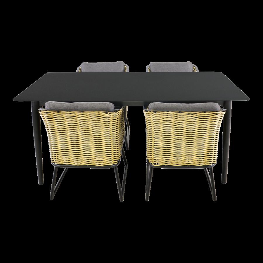 Tuintafel - Crest - Aluminium - 180x90x75 cm - Lesli Living-8