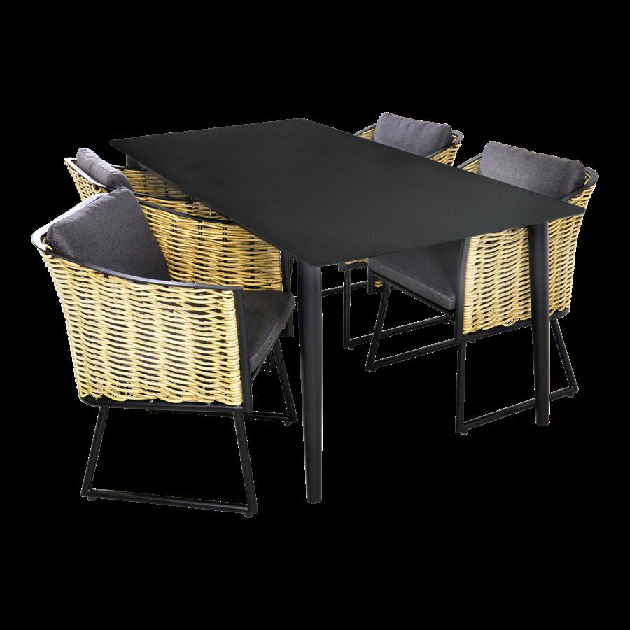 Tuintafel - Crest - Aluminium - 180x90x75 cm - Lesli Living-7