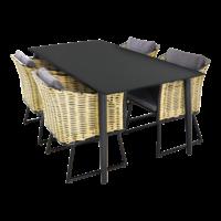 thumb-Tuintafel - Crest - Aluminium - 180x90x75 cm - Lesli Living-3