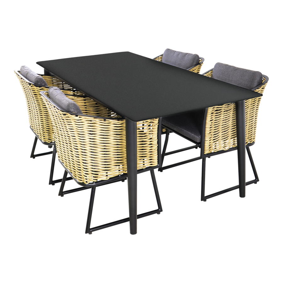 Tuintafel - Crest - Aluminium - 180x90x75 cm - Lesli Living-3