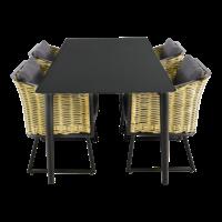 thumb-Tuintafel - Crest - Aluminium - 180x90x75 cm - Lesli Living-9