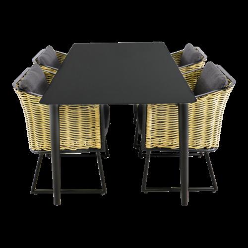 Lesli Living  Tuintafel - Crest - Aluminium - 180x90x75 cm - Lesli Living