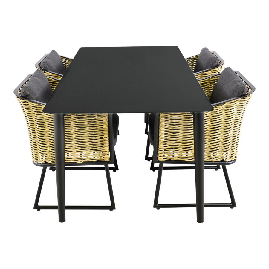 Tuintafel - Crest - Aluminium - 180x90x75 cm - Lesli Living-9