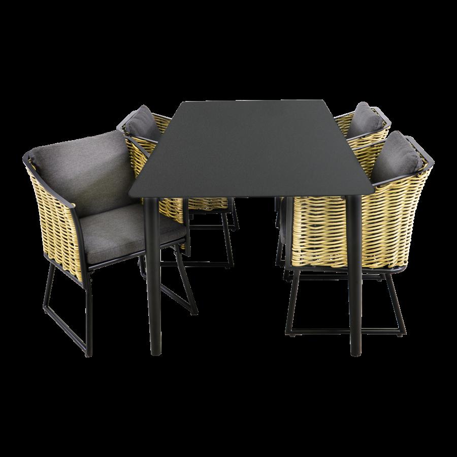 Tuintafel - Crest - Aluminium - 180x90x75 cm - Lesli Living-10