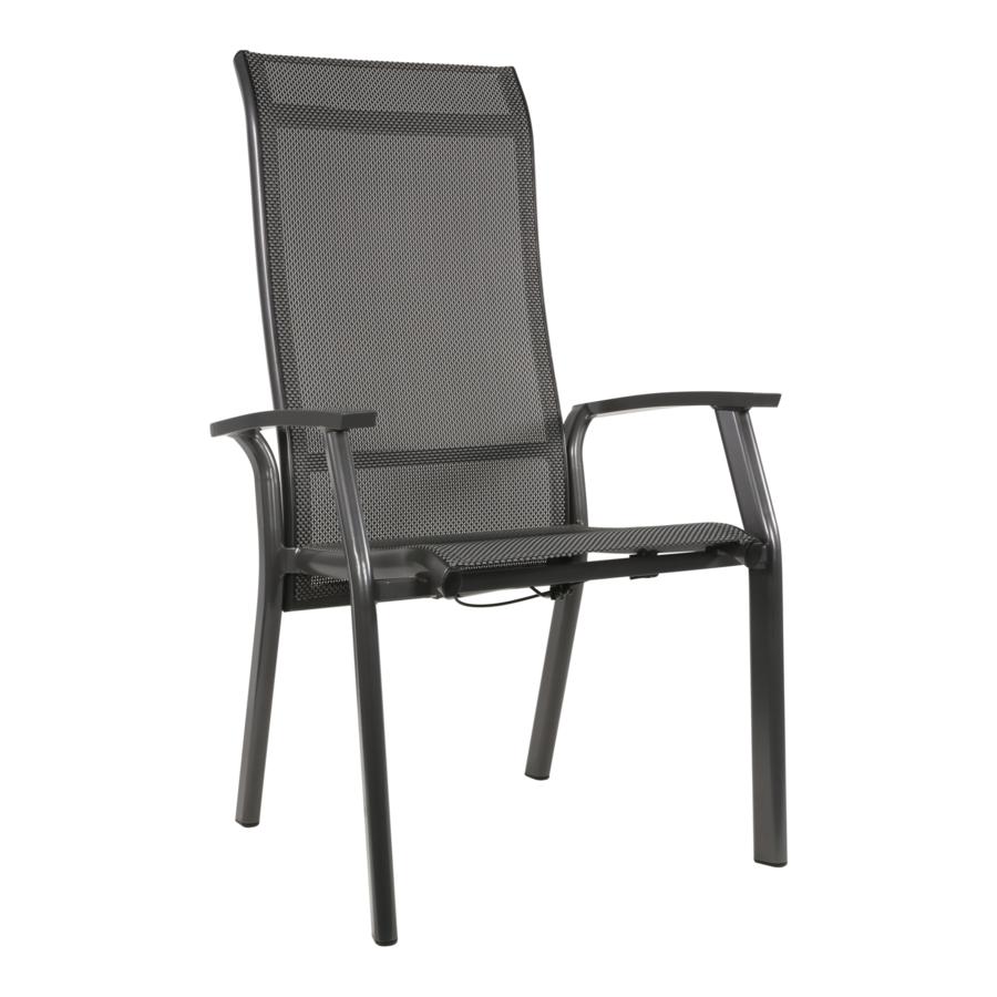 Verstelbare Tuinstoel - Mojito Negro II - Aluminium - Lesli Living-1