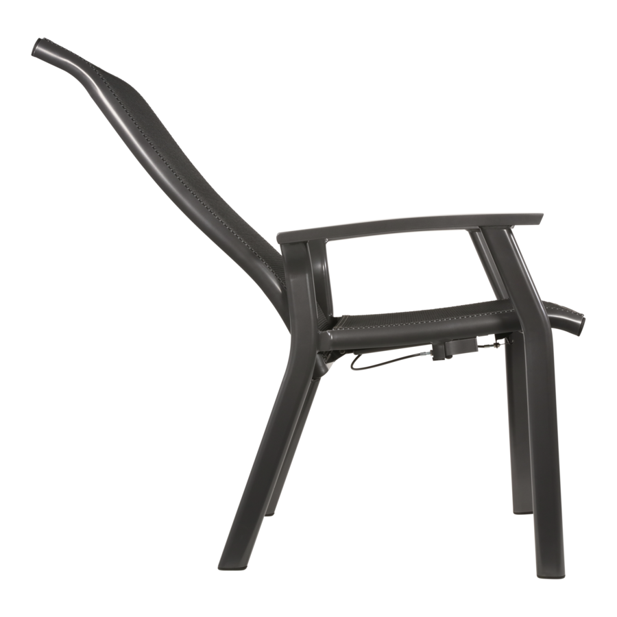 Verstelbare Tuinstoel - Mojito Negro II - Aluminium - Lesli Living-5