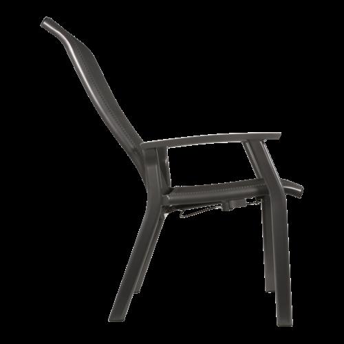 Lesli Living  Verstelbare Tuinstoel - Mojito Negro II - Aluminium - Lesli Living