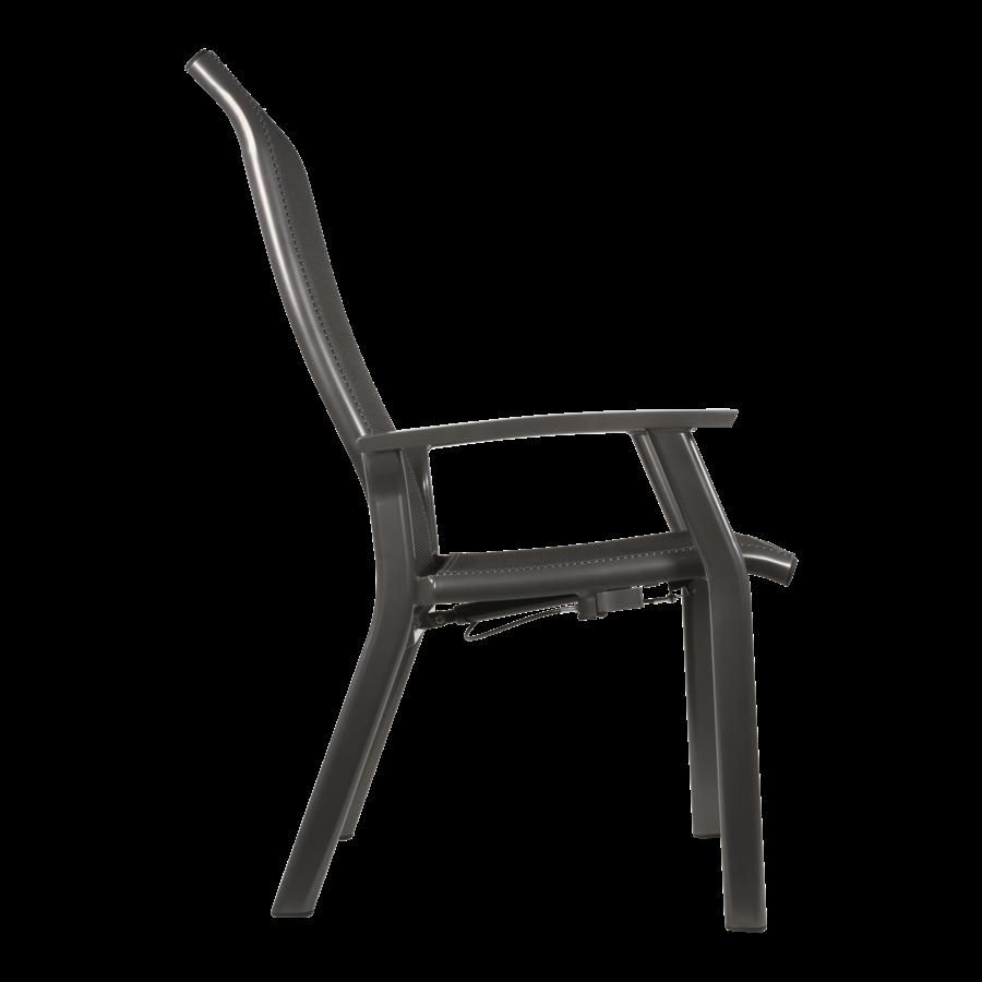 Verstelbare Tuinstoel - Mojito Negro II - Aluminium - Lesli Living-3