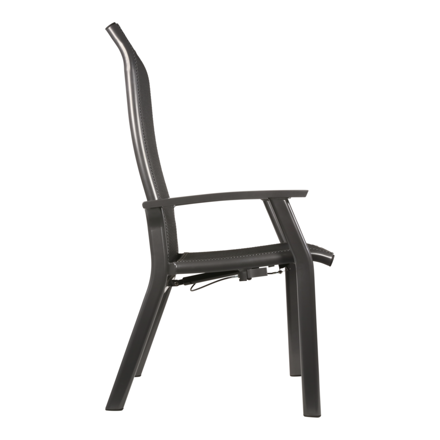 Verstelbare Tuinstoel - Mojito Negro II - Aluminium - Lesli Living-2