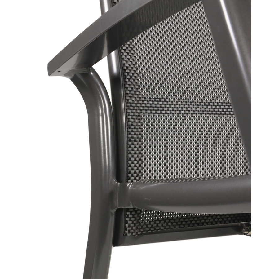Verstelbare Tuinstoel - Mojito Negro II - Aluminium - Lesli Living-7
