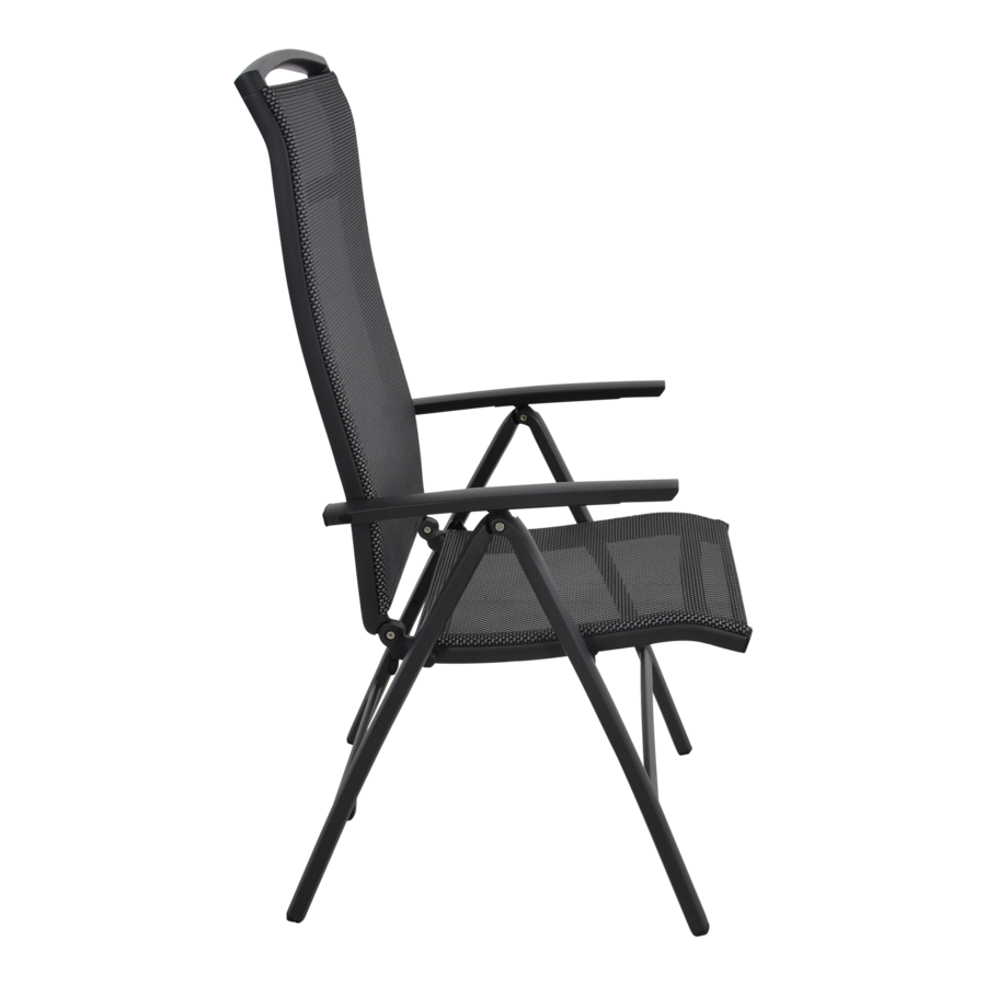 Standenstoel - Lotis Negro - Antraciet - Aluminium - Lesli Living-3