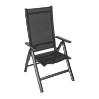 Standenstoel - Carino - Antraciet - Aluminium - Lesli Living
