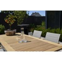 thumb-Tuinstoel Stapelbaar - Marmaris - Grijs - Teak/RVS - Lesli Living-4