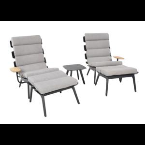 Lesli Living  Lounge Tuinstoelen - Duoset Ventus - Negro - Lesli Living