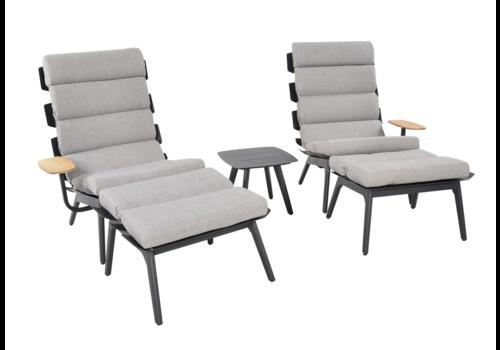 Lounge Tuinstoelen - Duoset Ventus - Negro - Lesli Living