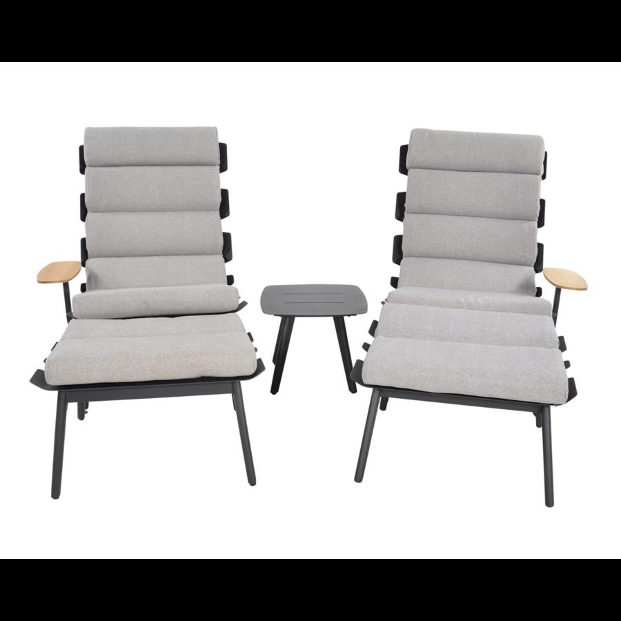 Lounge Tuinstoelen - Duoset Ventus - Negro - Lesli Living-2
