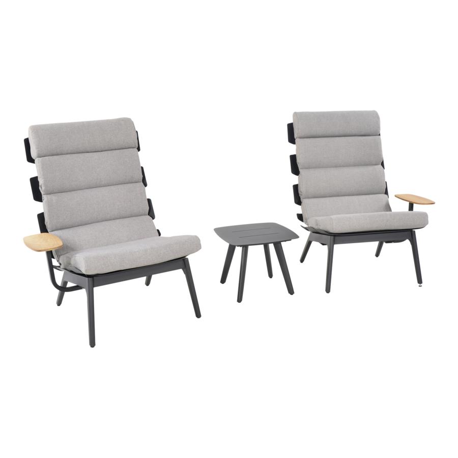 Lounge Tuinstoelen - Duoset Ventus - Negro - Lesli Living-6