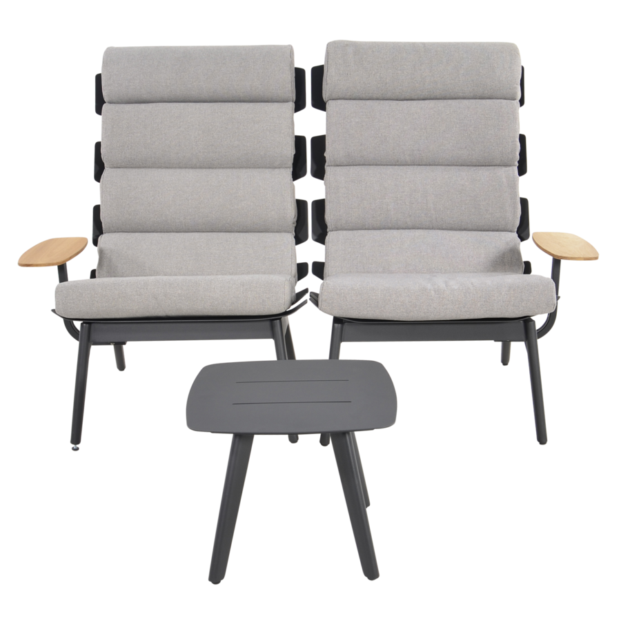 Lounge Tuinstoelen - Duoset Ventus - Negro - Lesli Living-5