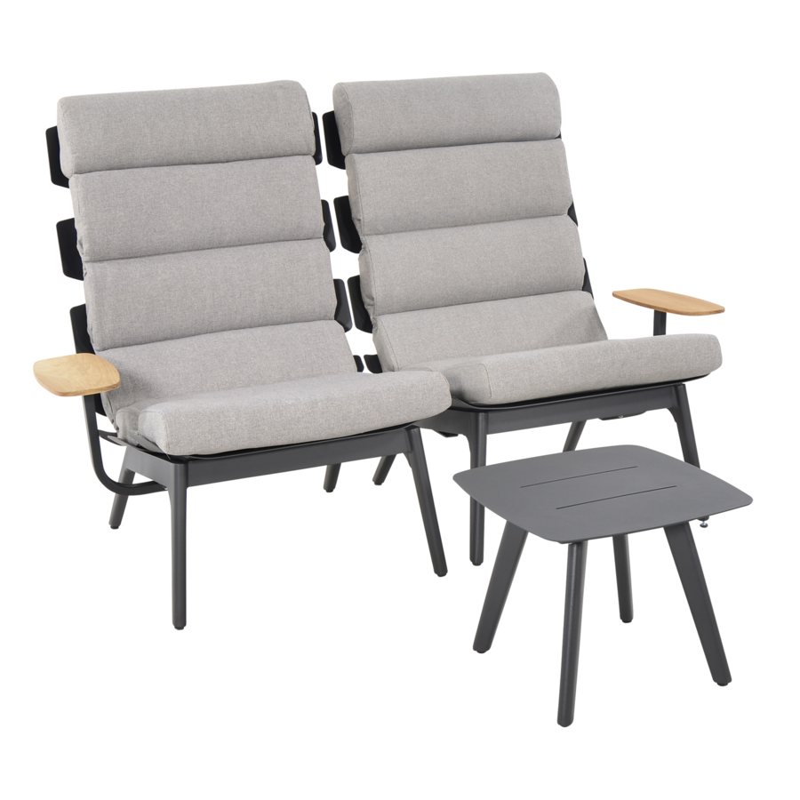Lounge Tuinstoelen - Duoset Ventus - Negro - Lesli Living-7