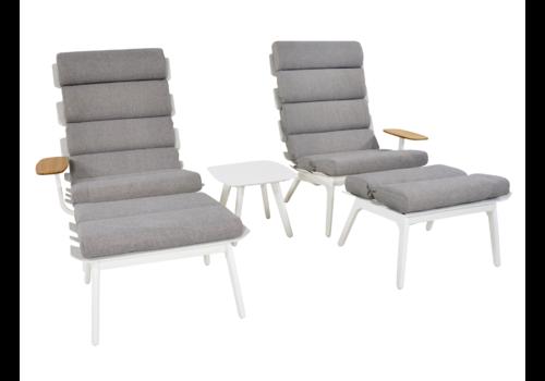 Lounge Tuinstoelen - Duoset Ventus - Wit - Lesli Living