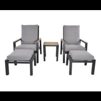 thumb-Lounge Tuinstoelen - Duoset Coda - Charcoal - Lesli Living-2
