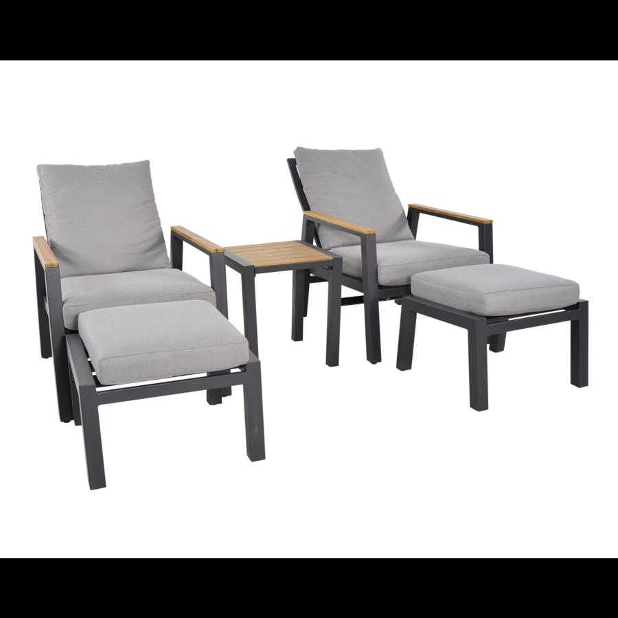 Lounge Tuinstoelen - Duoset Coda - Charcoal - Lesli Living-6