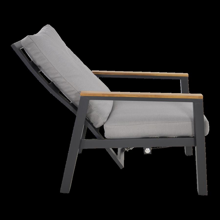 Lounge Tuinstoelen - Duoset Coda - Charcoal - Lesli Living-8