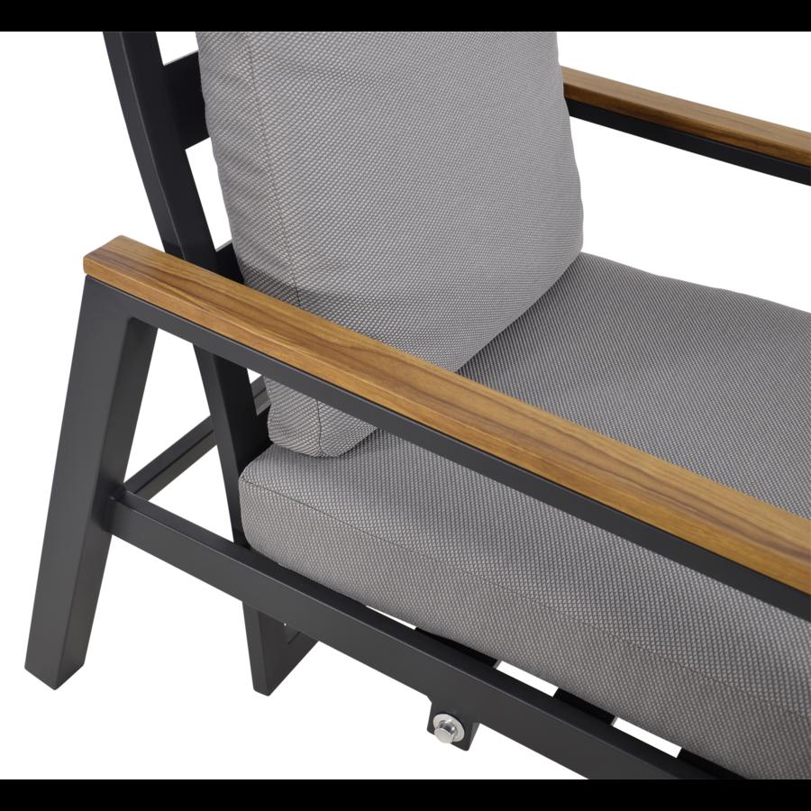 Lounge Tuinstoelen - Duoset Coda - Charcoal - Lesli Living-9