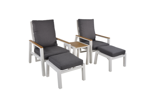 Lounge Tuinstoelen - Duoset Coda - Wit - Lesli Living