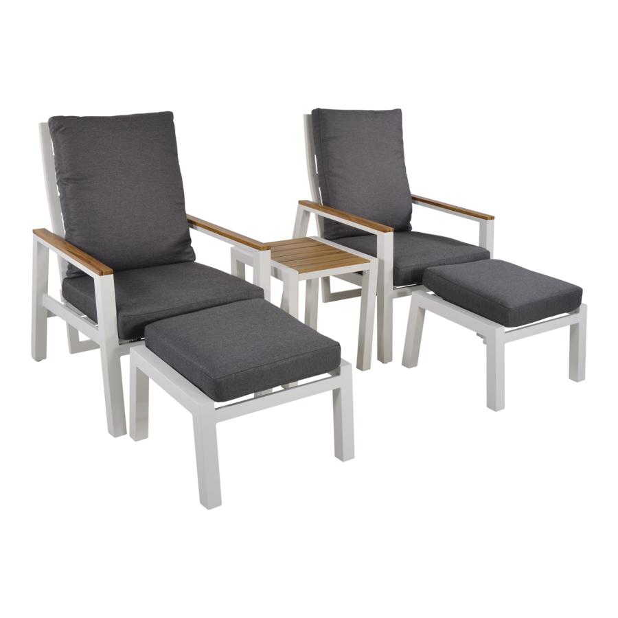 Lounge Tuinstoelen - Duoset Coda - Wit - Lesli Living-1