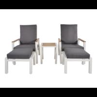 thumb-Lounge Tuinstoelen - Duoset Coda - Wit - Lesli Living-2