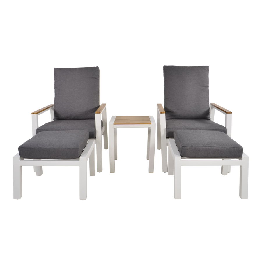 Lounge Tuinstoelen - Duoset Coda - Wit - Lesli Living-2