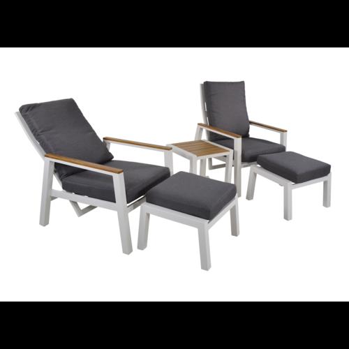 Lesli Living  Lounge Tuinstoelen - Duoset Coda - Wit - Lesli Living