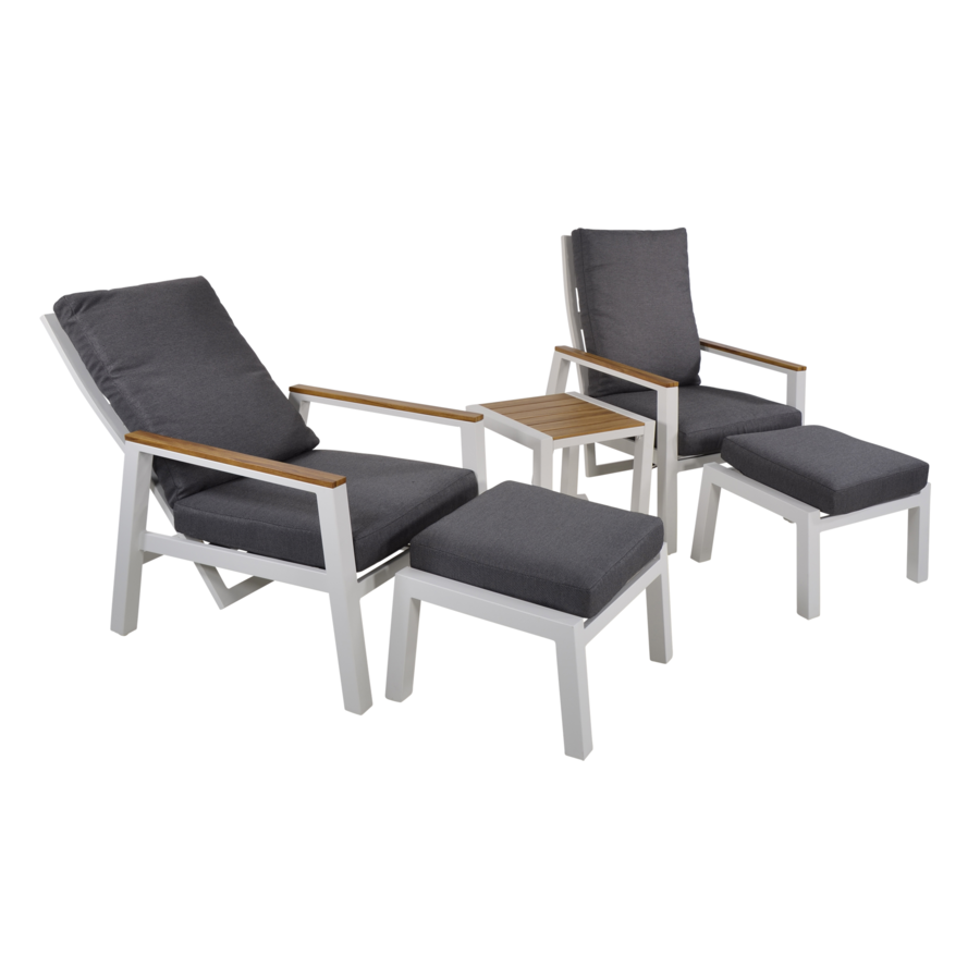 Lounge Tuinstoelen - Duoset Coda - Wit - Lesli Living-4