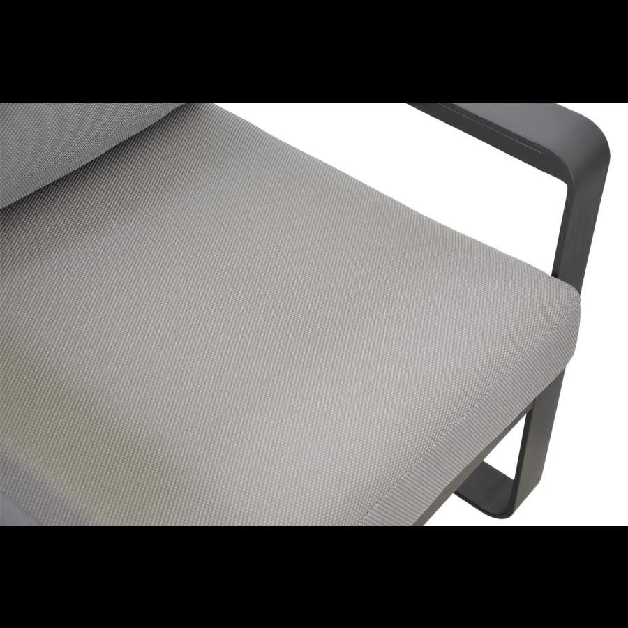 Stoel-Bank Loungeset - Belezza - Aluminium - Antraciet - Lesli Living-9