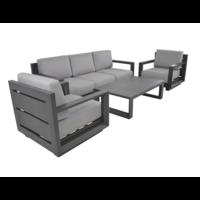 thumb-Stoel-Bank Loungeset - Giorgo - Aluminium - Antraciet - Lesli Living-2