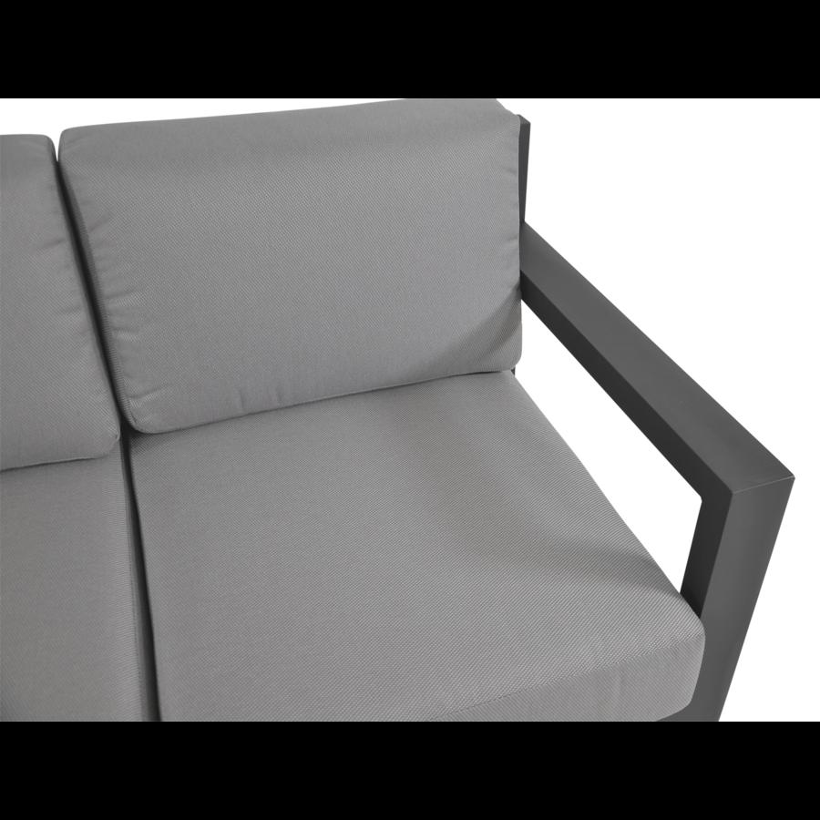 Stoel-Bank Loungeset - Giorgo - Aluminium - Antraciet - Lesli Living-9