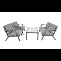 Stoel-Bank Loungeset - Marah - Aluminium - Lesli Living