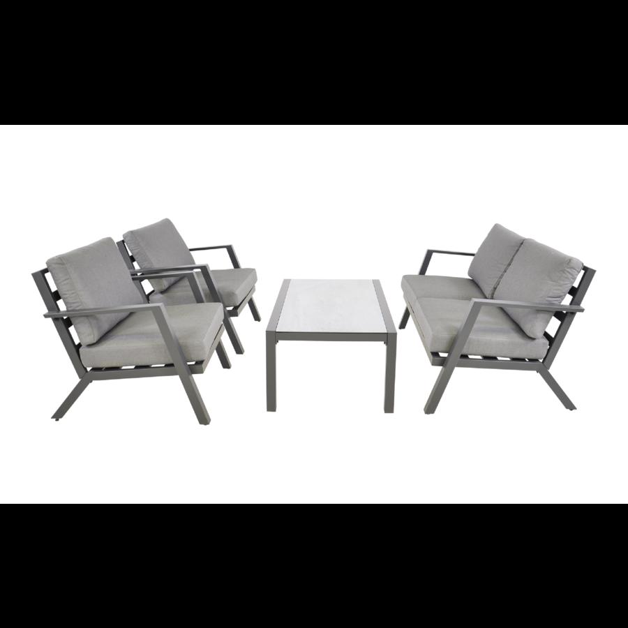 Stoel-Bank Loungeset - Marah - Aluminium - Lesli Living-1